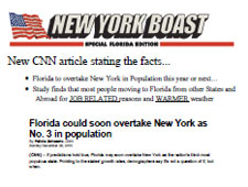 Florida to overtake New York in Population