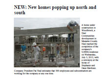 New homes popping up north and south