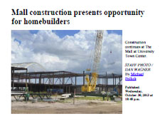 Mall construction presents opportunity for homebuilders